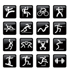 Sport web icons buttons vector image vector image