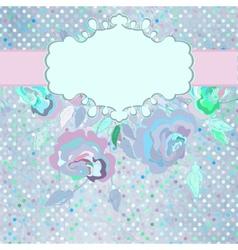 Vintage dots Floral Card vector image vector image