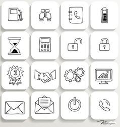 Application icons design set 3 vector image