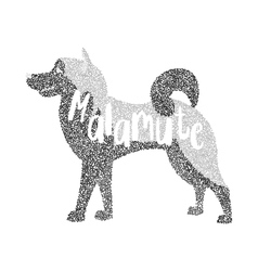 Form of round particles alaskan malamute dog vector image vector image