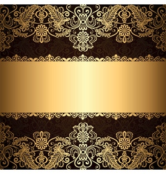gold patter border vector image vector image