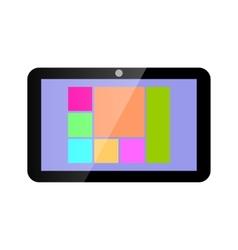 Icon tablet computer vector image