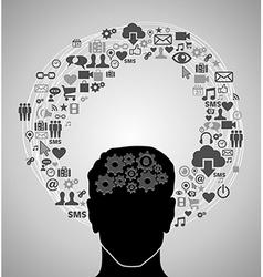 Social media man vector image