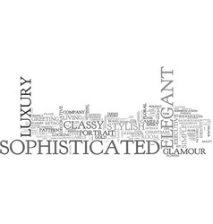 Sophisticated word cloud concept vector