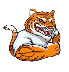 Tiger mascot team label design vector image vector image