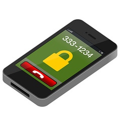 touch mobile phone vector image vector image
