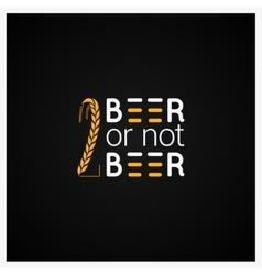 Beer Concept Logo Design Background vector image vector image