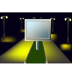 Billboard and night highway vector image