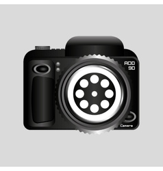digital photo camera reel film pin vector image