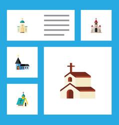 Flat icon christian set of religious religion vector