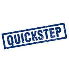 square grunge blue quickstep stamp vector image