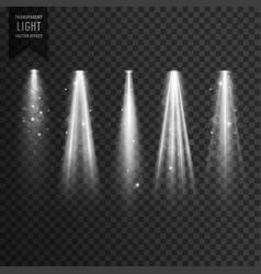 stage transparent spotlight effect vector image