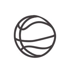 basketball ball icon Sketch design vector image vector image