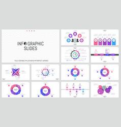 big bundle of simple infographic design templates vector image