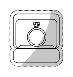box ring wedding outline vector image