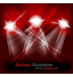 bright lights vector image vector image
