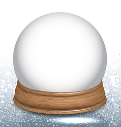 Empty Snow Dome Globe vector image