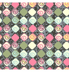 Geometric seamless pattern background Retro style vector image