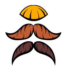 mustache icon cartoon vector image vector image