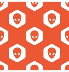Orange hexagon alien pattern vector image vector image