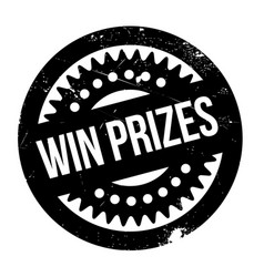 win prizes rubber stamp vector image