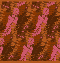 Abstract decorative acacia flower seamless pattern vector