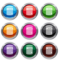 an electronic calculator set 9 collection vector image