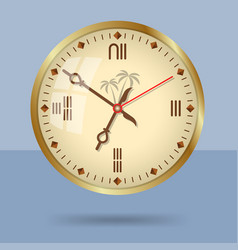 Ancient egypt style decorative wall clock vector