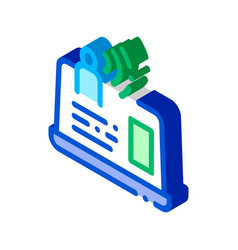 artificial personal assistant isometric icon vector image