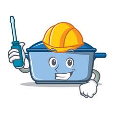 Automotive kitchen character cartoon style vector