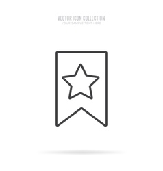 Awards icons isolated with shadow in linear style vector image