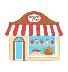 Bakery shop building vector image