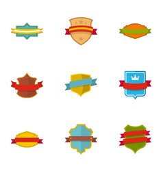 banner icons set flat style vector image