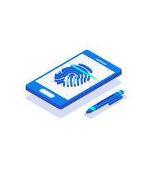 Biometric authentication methods isometric vector