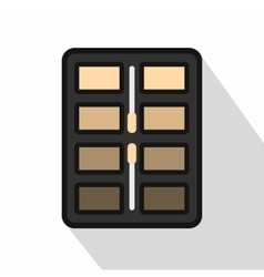 Brown tone make up palette icon flat style vector