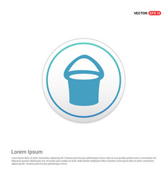 Bucket icon - white circle button vector