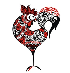 Chinese new year rooster design vector
