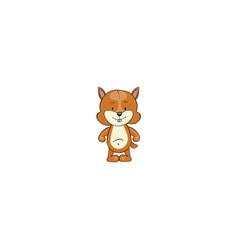 Chipmunk cartoon icon vector
