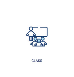 Class concept 2 colored icon simple line element vector