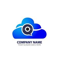 Cloud Internet Disc Technology Logo Icon Template vector