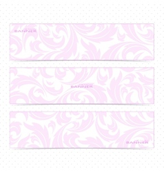 Collection horizontal banners in the style of vector image