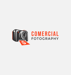 Commercial photography logo icon template vector