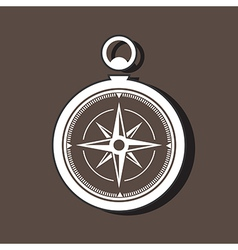 Compass Icon On Dark vector image