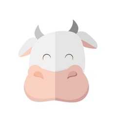 Cow icon Farm animal concept graphic vector