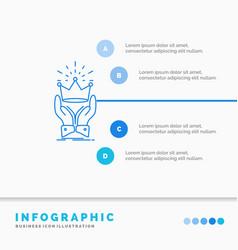 Crown honor king market royal infographics vector
