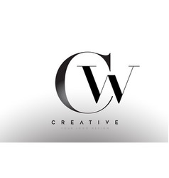 Cw wc letter design logo logotype icon concept vector