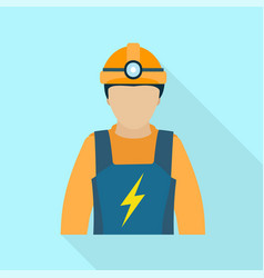 electric man icon flat style vector image
