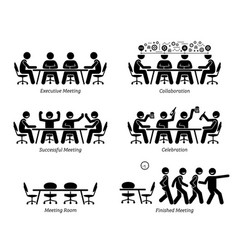 executives having effective and efficient meeting vector image