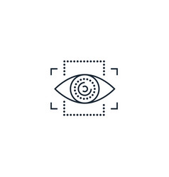 Eyetap creative icon from augmented reality icons vector