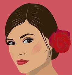 face women vector image